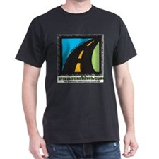 Black T-Shirt with road