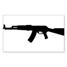 Rifle AK 47 Rectangle Decal