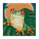 Tree Frog Art Tile