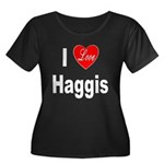 I Love Haggis (Front) Women's Plus Size Scoop Neck