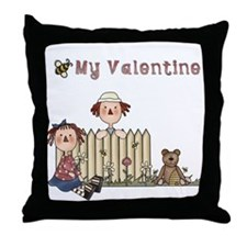 Bee My Valentine Throw Pillow