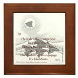 Cute Poetry Framed Tile