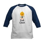 Dharma Lost Chick Kids Baseball Jersey
