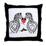 Zebra Valentine Throw Pillow