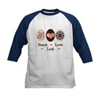 Peace Love Lost Kids Baseball Jersey