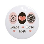 Peace Love Lost Ornament (Round)