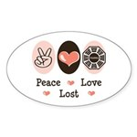Peace Love Lost Oval Sticker (10 pk)