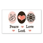 Peace Love Lost Rectangle Sticker