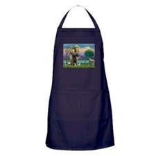 St Francis / Tab Tiger Cat Apron (dark)