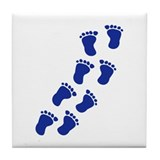 Feet baby Tile Coaster
