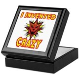 I Invented Crazy Keepsake Box