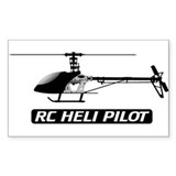 RC Heli Pilot Rectangle Decal