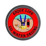 Enjoy Life Go Water Skiing Wall Clock