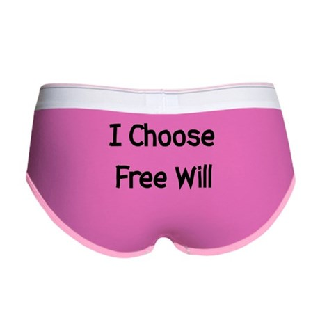 Choose Free Will Women's Boy Brief