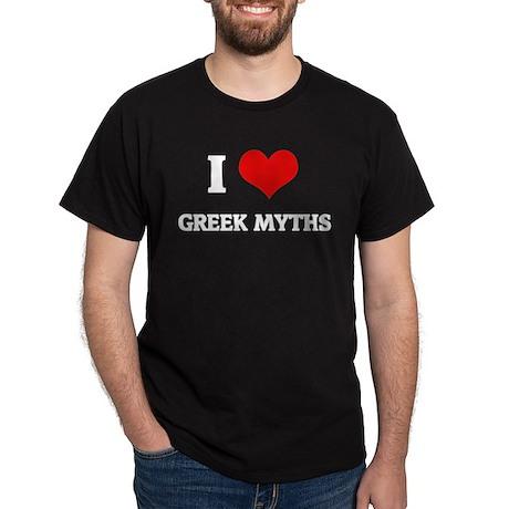 I Love Greek Myths Black T-Shirt