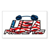 U.S. Powerlifting Rectangle Decal