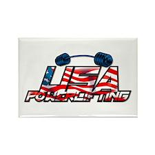 U.S. Powerlifting Rectangle Magnet