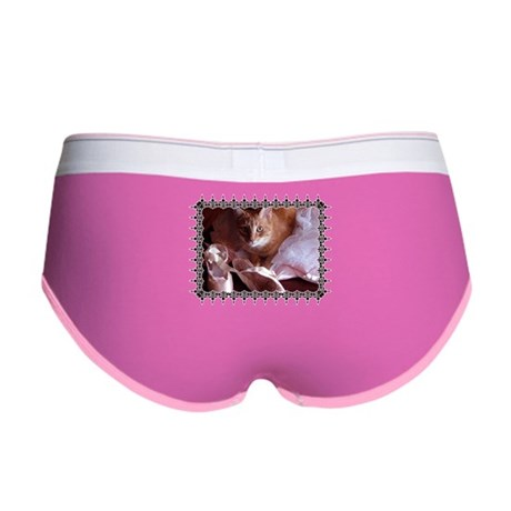 Cat and Ballet Slippers Women's Boy Brief