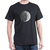 Golf Ball  Black T-Shirt