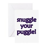 Snuggle Your Puggle Greeting Cards (Pk of 20)