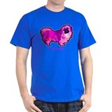 "Pekingese in "" Hot Pink"" Black T-Shirt"