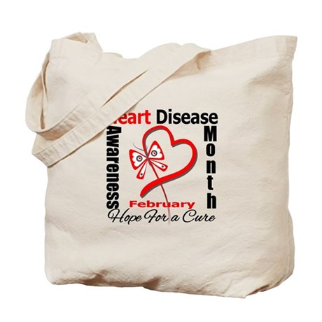 Heart Disease Month Tote Bag