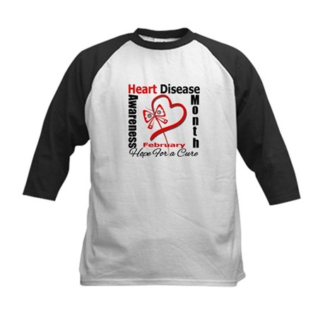 Heart Disease Month Kids Baseball Jersey