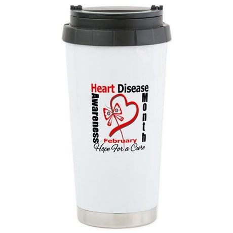 Heart Disease Month Ceramic Travel Mug