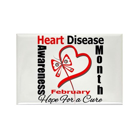 Heart Disease Month Rectangle Magnet