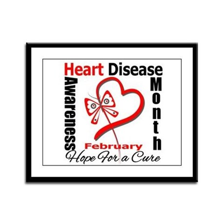 Heart Disease Month Framed Panel Print