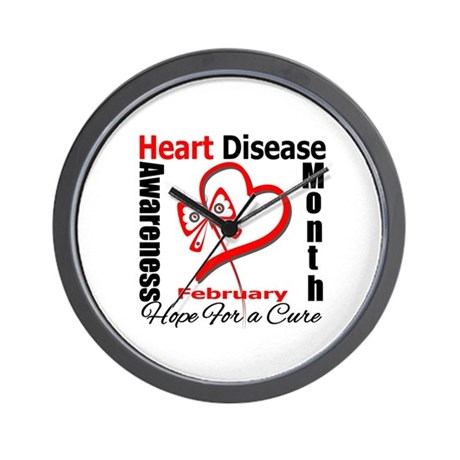 Heart Disease Month Wall Clock