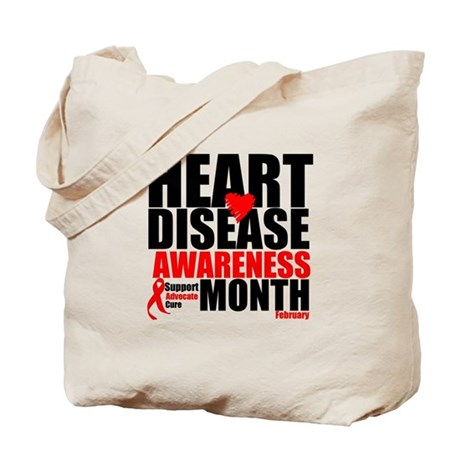 SupportHeartDiseaseMonth Tote Bag