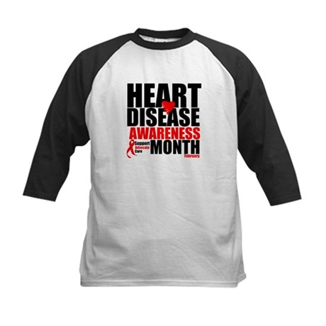 SupportHeartDiseaseMonth Kids Baseball Jersey