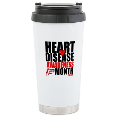 SupportHeartDiseaseMonth Ceramic Travel Mug