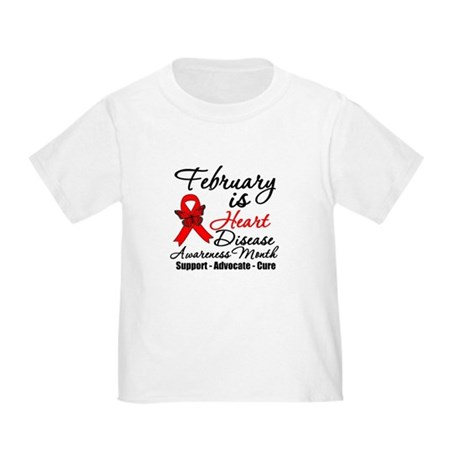 FebruaryHeartDiseaseMonth Toddler T-Shirt