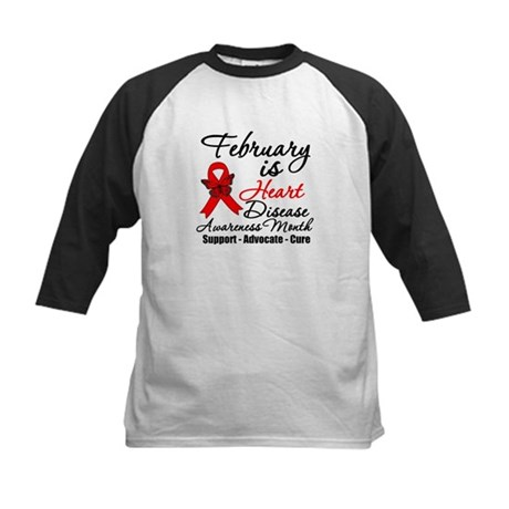 FebruaryHeartDiseaseMonth Kids Baseball Jersey