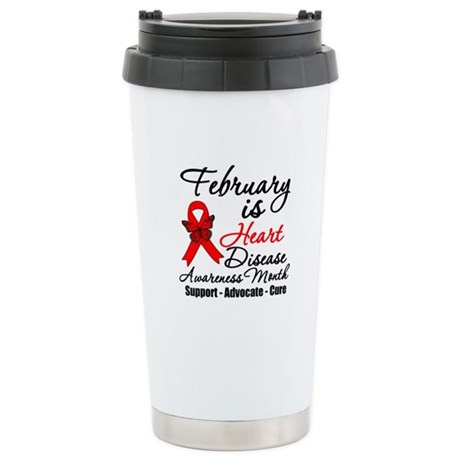 FebruaryHeartDiseaseMonth Ceramic Travel Mug