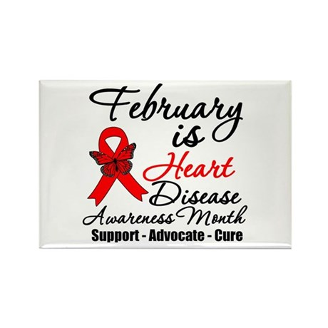 FebruaryHeartDiseaseMonth Rectangle Magnet