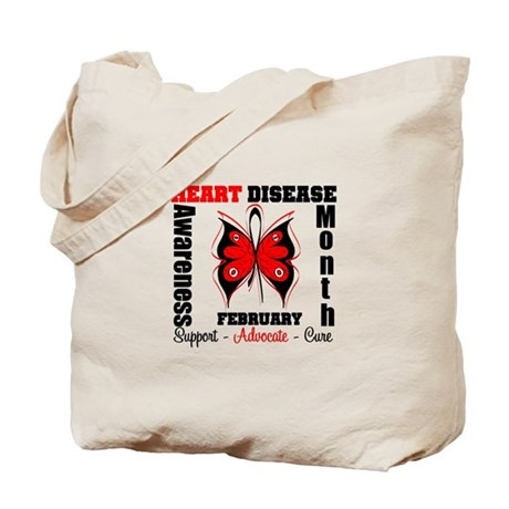 ButterflyHeartDiseaeMonth Tote Bag