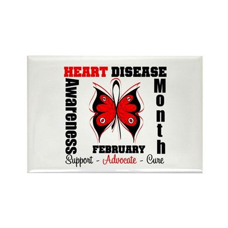 ButterflyHeartDiseaeMonth Rectangle Magnet