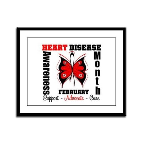 ButterflyHeartDiseaeMonth Framed Panel Print