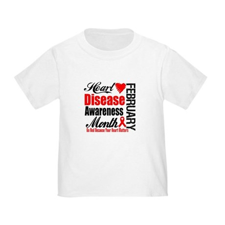 HeartDiseaseAwarenessMonth Toddler T-Shirt