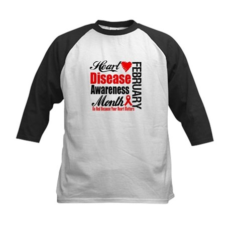 HeartDiseaseAwarenessMonth Kids Baseball Jersey