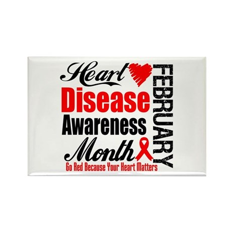 HeartDiseaseAwarenessMonth Rectangle Magnet
