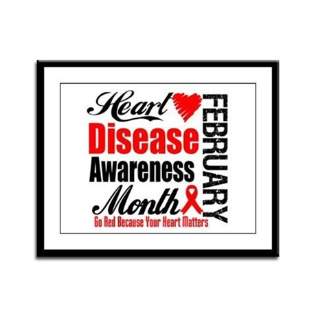 HeartDiseaseAwarenessMonth Framed Panel Print