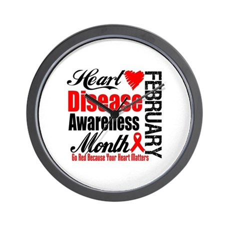 HeartDiseaseAwarenessMonth Wall Clock