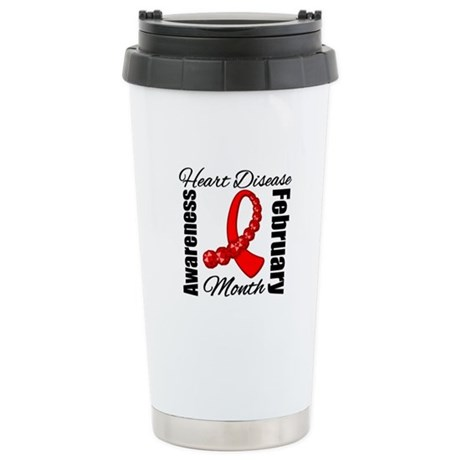 February Heart Disease Ceramic Travel Mug