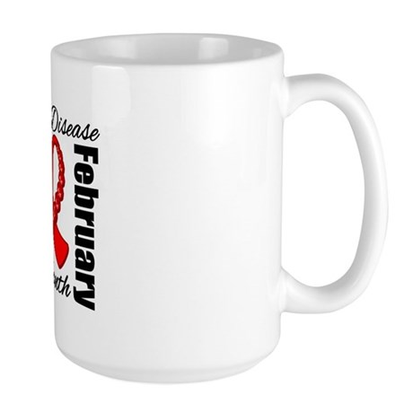 February Heart Disease Large Mug