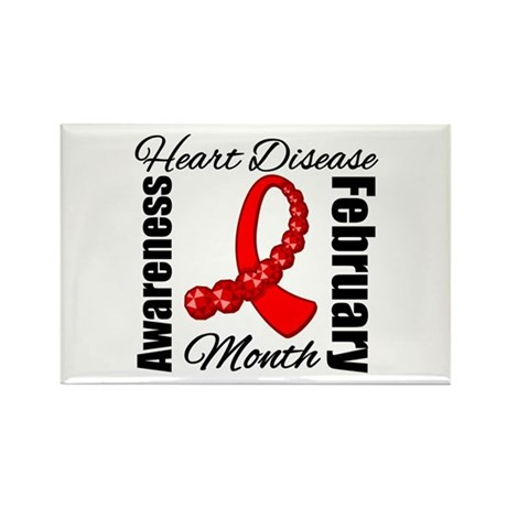 February Heart Disease Rectangle Magnet