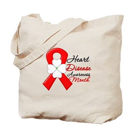 FlowerRibbonHeartDisease Tote Bag